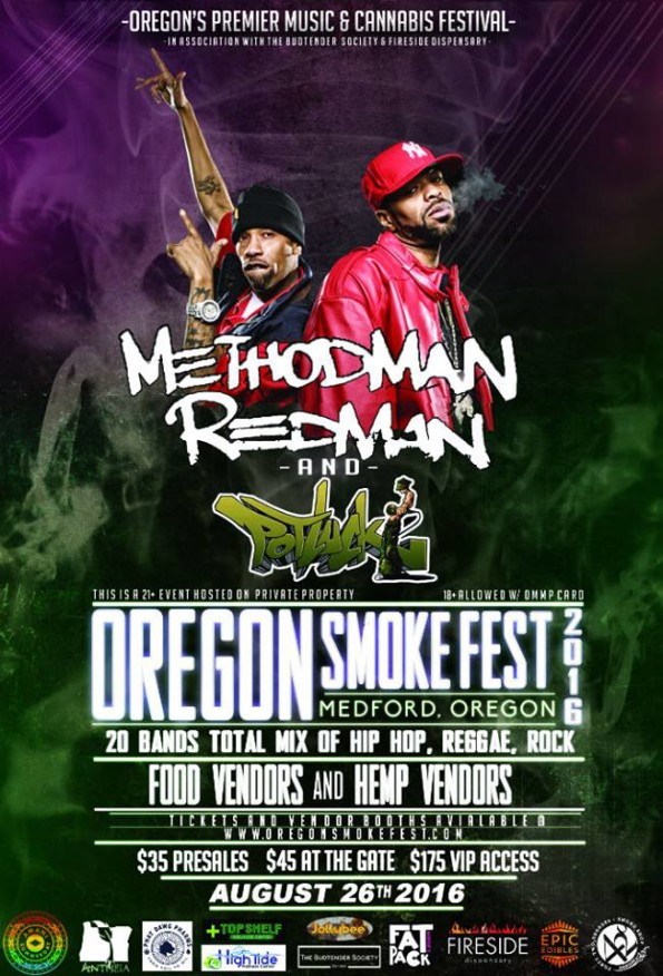 8/26/2016: Oregon Smoke Fest featuring Methodman, Redman & Potluck