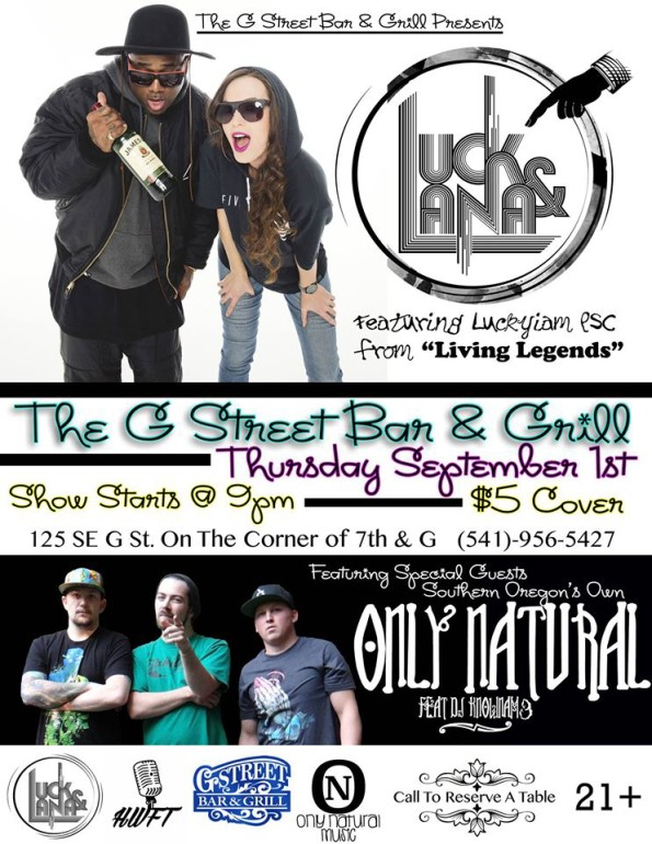 9/1/2016: Luck & Lana @ The G Street Bar & Grill in Grants Pass