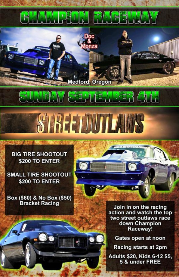 9/4/2016: Street Outlaws @ Champion Raceway in Medford