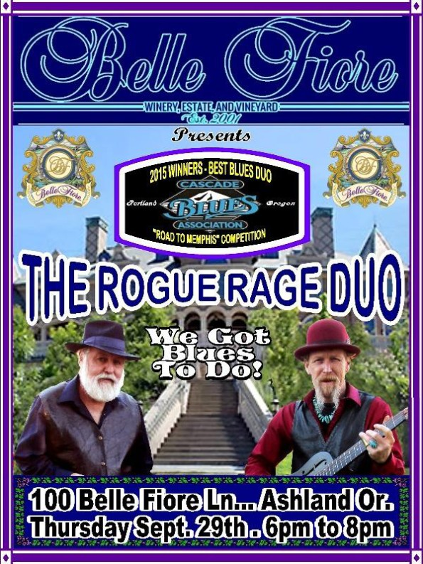 9/29/2016: The Rogue Rage Duo @ Belle Fiore