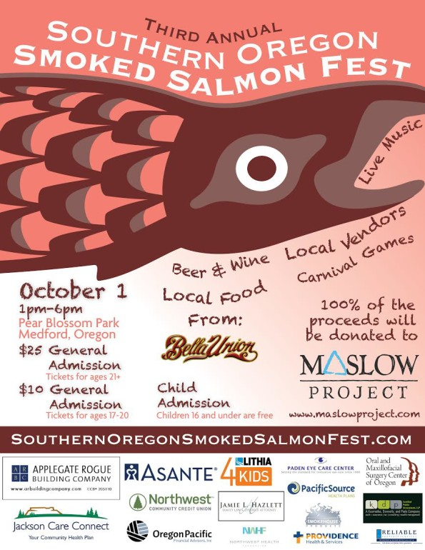 10/1/2016: 3rd Annual Southern Oregon Smoked Salmon Fest @ Pear Blossom Park