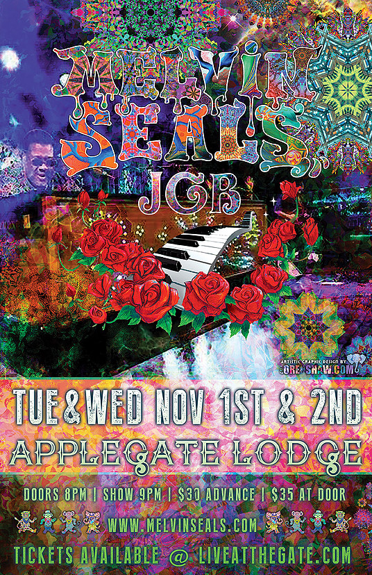 11/1/2016: Melvin Seals and JGB @ The Applegate River Lodge