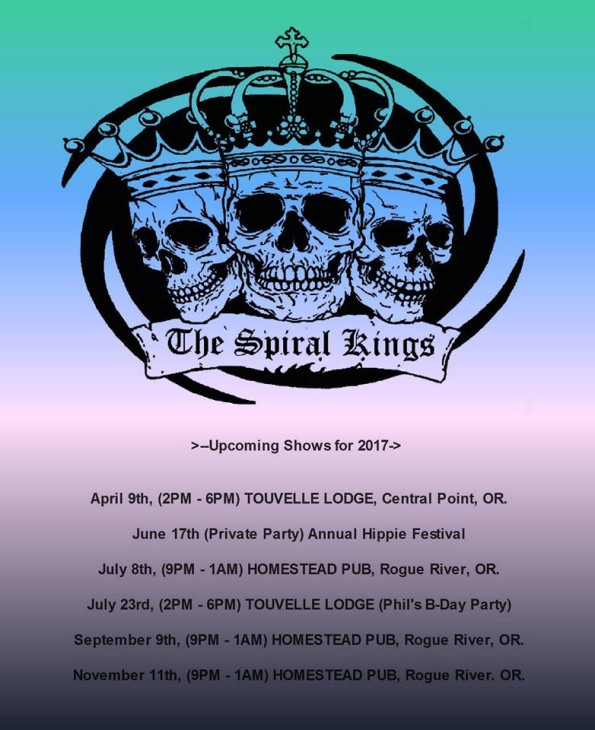4/9/2017: The Spiral Kings @ Touvelle Lodge in Central Point