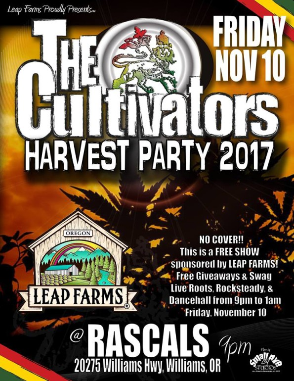 11/10/2017: The Cultivators @ Rascals (Williams, OR)
